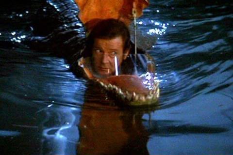 Krokodil-Wasserfahrzeug