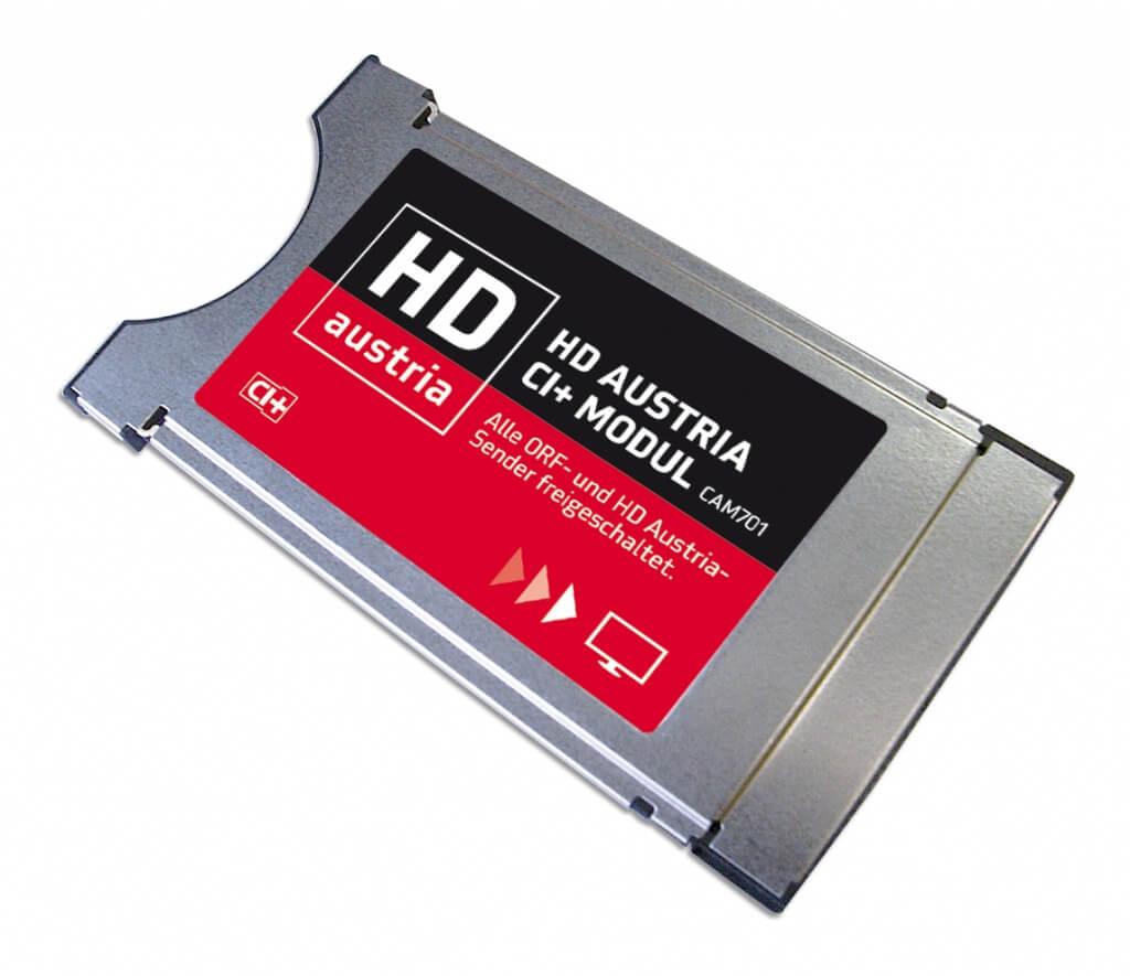 Das neue HD Austria CI+ Modul CAM701, Nachfolger des Modells CAM901