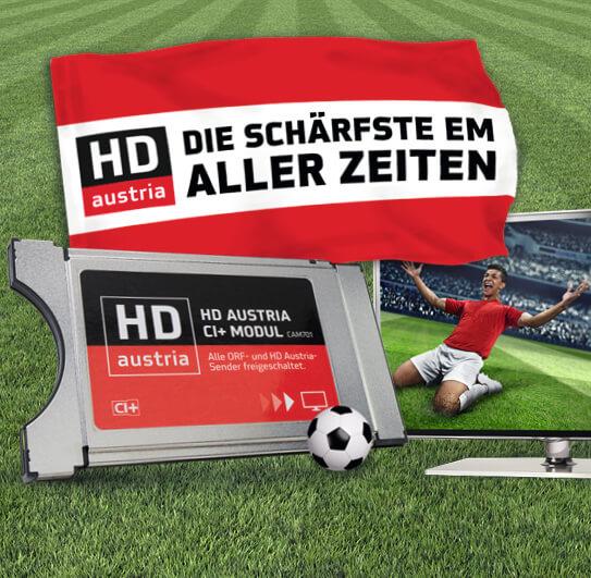 HD Austria CI+ Modul CAM701 mit integrierter SAT-Karte: sofort ORF HD und alle Spiele der EM empfangen