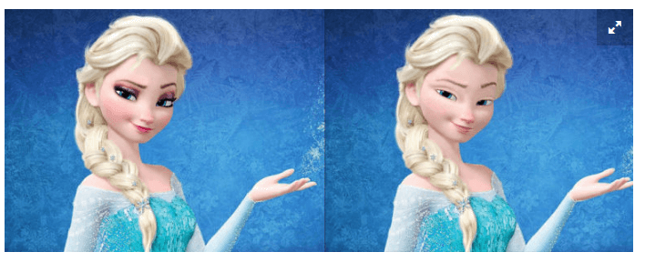 Elsa ohne Make-up © Walt Disney Pictures © Loryn Brantz /Disney