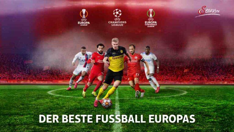 UEFA Champions League und UEFA Europa League bei Servus TV